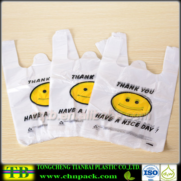 Cheap biodegradable custom printed plastic t shirt bags for Personalized t shirt bags