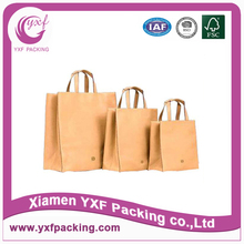 2015 factory direct brown kraft paper bag with handle, paper gift bag