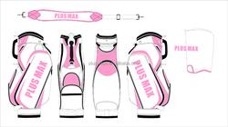 wholesale high quality custom handmade PU leather pink golf bag