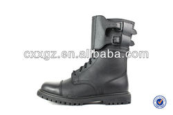 10 Inches Military Boots Split Embossed Leather Rubber Outsole Goodyear Process Army Boots