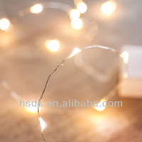 cheap battery operated micro warm white copper wire string light