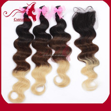 Natural Hair Product most charming OEM service 3 tone color ombre hair