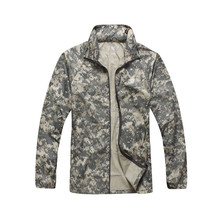 ACU Tactical Jacket Outdoor Breathable Skin Clothing Men's Anti UV Water Resistance Light Jacket