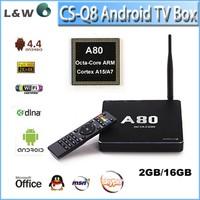 CS Q8 4G 32GB Android 4.4 kitkat A80 Google HD Sex Porn Video TV BOX A15/A7 Octa Core Internet TV Box Android A80 CS Q8