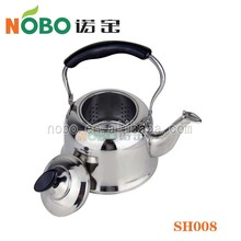 Made in China cheap price stainless steel water pot/tea pot/kettle with bakelite handle