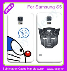JESOY Wholesale Cell Phone Accessories ,For Samsung Galaxy S5 Sublimation Cover Cases
