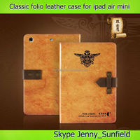 old classic book folio leather case for ipad air mini 2 3 4,for ipad case leather ,for ipad air case folio