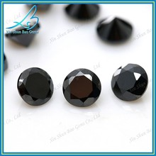 Lab created cubic zirconis round cut synthetic black diamond