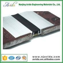 Modular aluminum cement joint filler strip in building materials