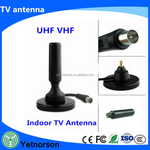 Indoor Vhf Uhf car TV Digital DVB-T antenna Hd 1080p Television with Magnetic base