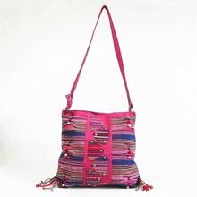vintage contemporary bohemian design shoulder weekender bag B262-04