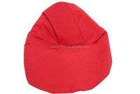 cheap 420D waterproof polyester red tear drop bean bag chair cover for lady