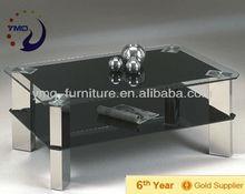 Black top modern coffee table C-30B in 2012