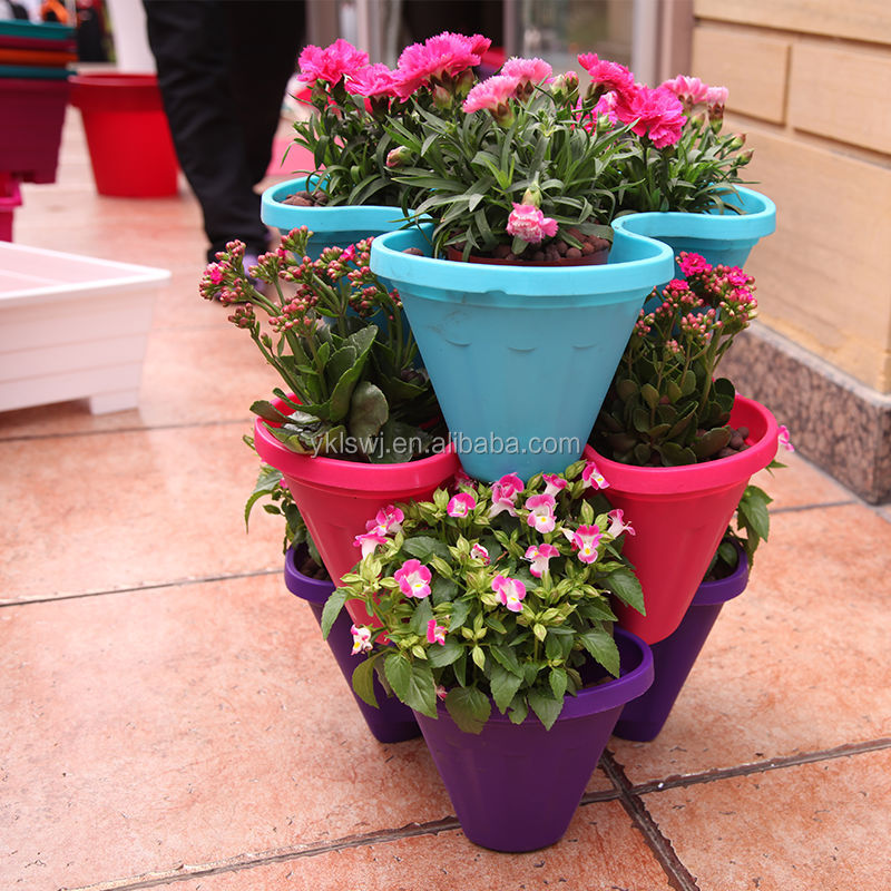 Patented Stacked Garden Planters Vertical Flower Pot Buy Stackable Garden Planters Vertical