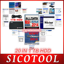 2014 alldata 10.53 repair software +mitchell ondemand etc . 20 in1 with 1tb HDD support win 7 and win 8 with best price