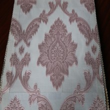 Newest European jacquard voile drapery sheer fabric for wedding backdrop