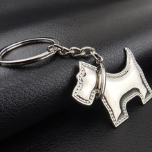 Zinc alloy metal Customized Hot sell Promotional Gifts 3D Poodle Dog keychain