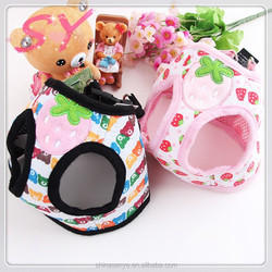 Wholesale pet leashes pet harness sweet-protected cotton clothes dog clothes pet harness