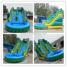 Summer amusement inflatable water slide for sale