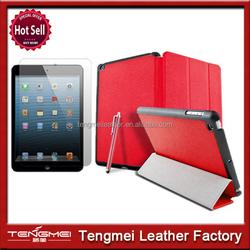 Decent design stand flip leather case for ipad mini tablet
