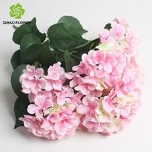 Wedding decoration silk artificial hydrangea flowers bouquet wholesale