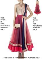 Dazzling Pink Net Resham Work Designer Anarkali Salwar Kameez Dress