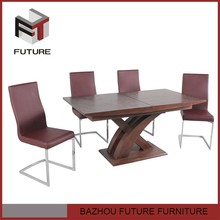 wood dining table home cross expandable furniture for restaurant