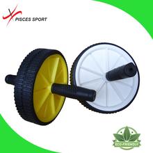 Fitness exercise body training double AB wheel