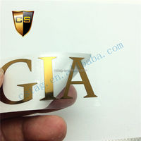 Private label / packaging with gold metal sticker