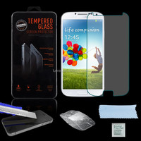 Genuine Crystal Clear 0.26mm Arc Edge Tempered Glass Screen Protector For Samsung Galaxy S4 i9500