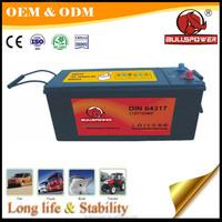 truck battery 24v auto power battery maintenance free calcium battery DIN65513