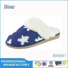 Woman knitted indoor winter slipper guangzhou shoes factory