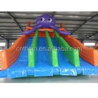 inflatable double lane slip slide