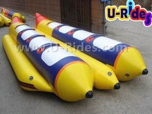 2015 hot Selling 6-8 person inflatable banana boat for kids and adult