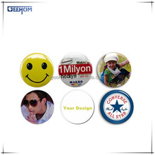 2015 promotional gifts custom round tinplate brooch