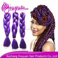 two colored synthetic braiding hair afro kinky braiding hair hair wholesale braiding