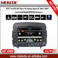 6.2''car multimedia player for hyundai sonata 2006 2007 2008 with DVD player GPS Navigator ipod Radio Bluetooth 3g wifi