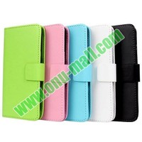 PU Material Wallet Style Leather Flip Case for LG G2 D802 with Card Slots and Holder
