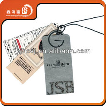 wholesale recycled fashion and fancy screen printing apparel hang tag