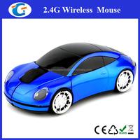USB 2.4G 1000dpi 3D Wireless Optical Blue Car Mouse Mice PC