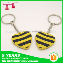 Embossed 3D pvc keychain