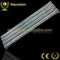 Blister plastic packing 4pcs 30cm LED rigid Strip Blue 5050 12V,high power led strip lens