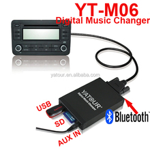 Usb sd mp3 digital music changer yatour car digital cd changer yt-m06