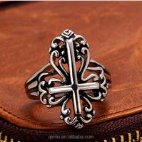 Best selling Stainless Steel plated cross Rings