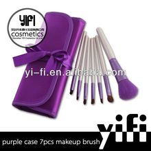 New product arrival!Pro 7pcs purple brushes plastic factories in turkey