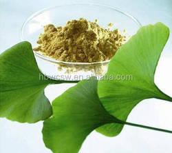 biloba ginkgo 100% natural ,no additive ginkgo biloba leaf extract FDA,GMP factory