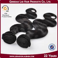 Qingdao Factory Double Weft Single Drawn Brazilian Hair Extensions Canada