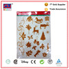 Holiday Decoration Gold Reusable Static Window Clings Clear Glitter Sticker