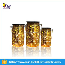 Garden solar led light,solar glass caned jar light,solar garden lamp