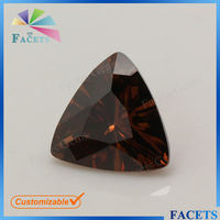 Facets Gems Brown Zircon Prices Trillion Cut Loose CZ Gemstone Buyers of Semi Precious Stones